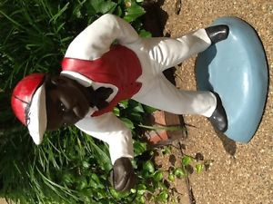 Black 'Jocko' Lawn Jockey Concrete Garden Lawn Statue Pick Up Local Only