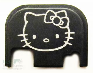 New Black Hello Kitty Rear Custom Slide Cover Plate for Glocks Pistol Gun Glock