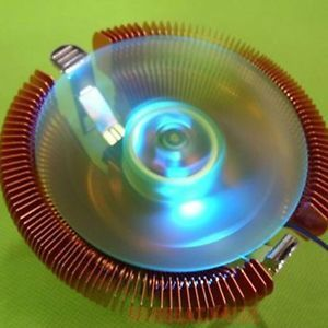Blue LED Light CPU Fan Copper Plating Heatsink for Intel Core i3 i5 LGA1155 1156