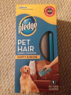 Pledge Fabric Sweeper Dog Cat Pet Hair Lint Remover Roller Empty Reuse Reusable