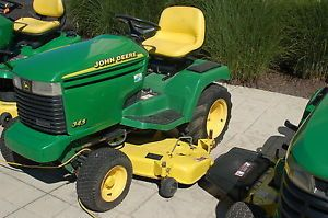 "John Deere 345 Garden Tractor Liquid Cooled PWR Steering Hyd Lift 54"" Deck"