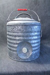 Vintage Antique Covey 2 Gallon Heavy Duty Galvanized Water Cooler