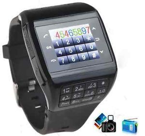 Unlocked Touch Screen Cell Phone Watch Camera GSM Q 8
