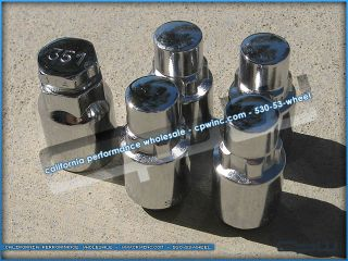 Cadillac Escalade Chrome Closed End Wheel Locks Locking Lug Nuts Tahoe Yukon New