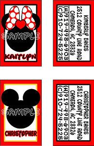 Custom Personalized Mickey Mouse Disney Luggage Tags Mickey Minnie