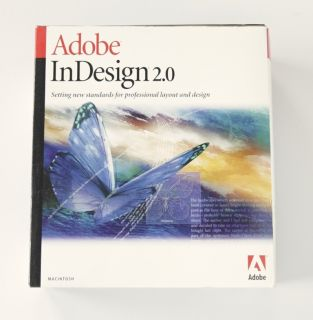 Adobe InDesign 2 0 for Mac Macintosh Apple