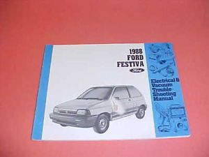 1988 Ford Festiva Electrical Service Shop Manual 88