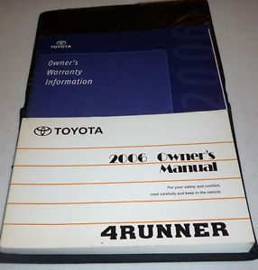 2006 Toyota 4Runner Owners Manual Set 06 Guide Case
