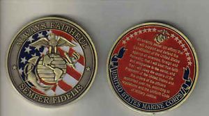Challenge Coin US USMC Marine Corps Oath of Enlistment 2 inch Very Nice Keepsake