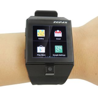 S5 Android 4 0 Touch Screen Dual CPU Smart GSM Watch Phone Bluetooth Camera WiFi