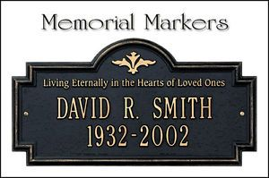 Personalized Memorial Dedication Markers Plaques Signs