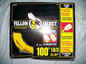 Yellow Jacket 100ft 10 3 Heavy Duty Extension Cord