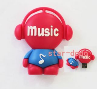 Musician Note USB 2 0 Flash Memory Drives 4GB 8GB 16GB 32GB Stick Pen Thumb