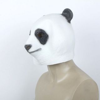 Horse Cow Panda Owl Head Mask Novelty Funny Latex Animal Face Halloween Costume