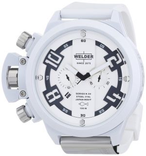 Welder by U Boat K24 Oversize Chronograph White ion Plated Mens Watch K24 3311