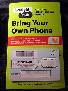 Straight Talk at T 4G LTE Standard Sim Card Activation Kit for iPhone 2G 3G 3GS