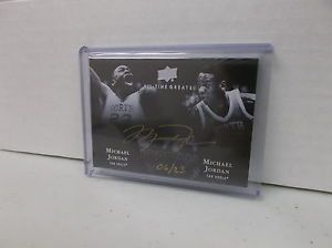 2012 13 UD All Time Greats Jordan vs Michael Jordan on Card Gold Ink Auto 6 23