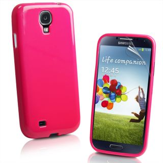 Grip Gel TPU Candy Case Cover for Samsung Galaxy S4 IV I9500 Screen Protector
