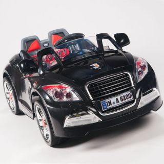 Kids Ride on Car 12V Battery Powered Wheels w RC  Remote Control Black