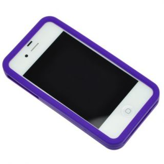 Purple Game Boy Style Silicone Case Cover Skin for iPhone 4 and 4S 4GS