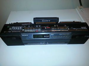 Sony CFS W501 Portable Stereo Boombox Cassette Player Radio
