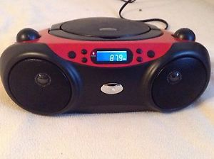 GPX BC232R CD Radio Boombox Disc Player Audio LCD 3 5mm Aux for  iPod iPhone