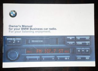 BMW Business RDS Radio Stereo Cassette C33 C43 Z3 Original Owner's Manual Book