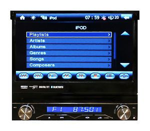 "HD 7"" Touch Screen DVD GPS Navigation Bluetooth 1 DIN CD Player Car Radio Stereo"