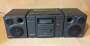 Vintage Sony Boombox CFD 757 CD Radio Dual Cassette Corder Tape Player Mega Bass