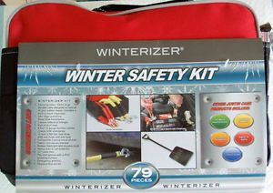 Justin Case Winter Safety Kit Roadside Auto Car Emergency Kit 79 Pieces New
