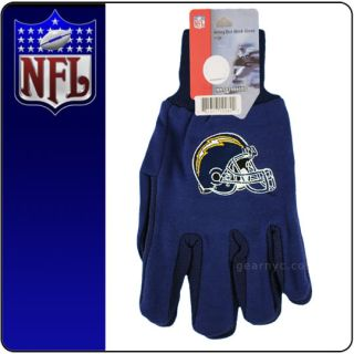 New Licensed NFL Football San Diego Chargers Gloves
