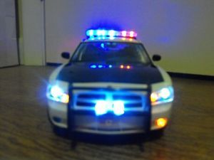1 18 Alaska State Trooper Police Dodge Charger Lights Custom Car Diecast Model