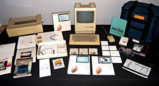 Apple Macintosh 128K Computer Printer Keyboard Software Tote More 1984