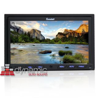 "Farenheit® TI 762 in Dash 7"" Double DIN LCD DVD CD  Car Stereo Receiver New"