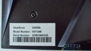 "Viewsonic Value VA503B VS11248 15"" LCD Flat Panel Computer Monitor Cables"