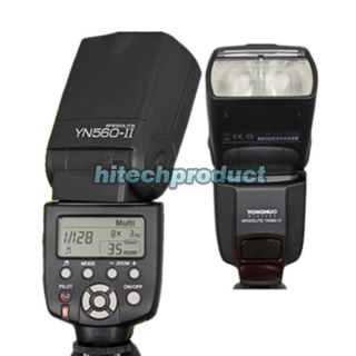 YONGNUO YN560 II Flash Speedlite w LCD Screen for Canon 5D Mark II III 650D 550D