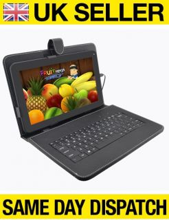 "New 10"" Android 4 1 1 Capacitive Tablet Netbook ePad with Keyboard Case Bundle"