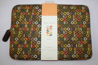 "New Orla Kiely PVC 15"" Netbook Apple MacBook Pro Laptop Sleeve Case Binary Print"