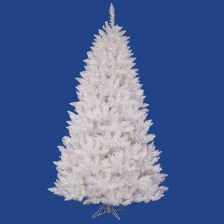 Vickerman Crystal White Spruce 7.5 Artificial Christmas Tree with 495 LED White Lights with Stand