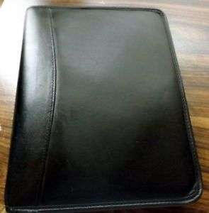"Kirkland Signature Black Leather Daily Planner Personal Organizer 7 1 5"" Rings"