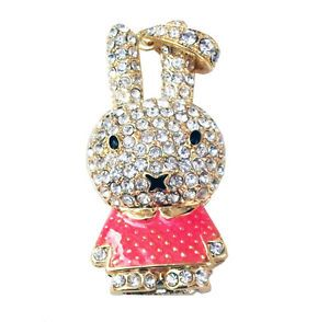8GB Pink Bunny Jewellery Swarovski Elements USB 2 0 Flash Drive Memory Stick UK