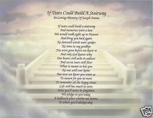 Personalized Memorial in Memory of Eulogy Sympathy Poem