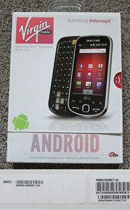 INTERCEPT ANDROID MOBILE CELL PHONE NO CONTRACT PREPAID VIRGIN MOBILE