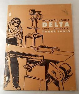 1962 DELTA ROCKWELL Light Industrial Power Tools CATALOG w Price List