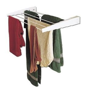 Household Essentials Wall Mount Telescoping Indoor Clothes Drying Rack