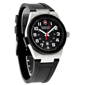 Swiss Army Victorinox Mens Night Vision II Black Rubber Band Swiss Watch 241131