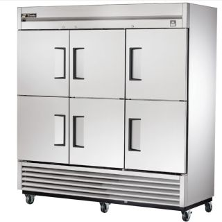 New Commercial True 6 Half Door Stainless Steel Refrigerator TS 72 6 Cooler