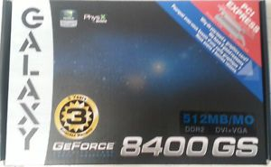 New Galaxy NVIDIA GeForce 8400 GS Video Graphics Card