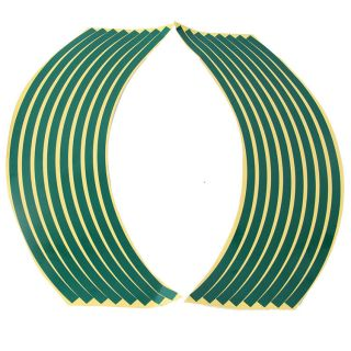 Strips Car Motorcycle Rim Tags 17'' 19''Wheel Tape Stickers All Green