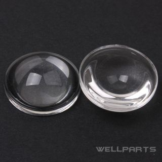 2 PC High Power LED 18mm Convex Lens Optical Glass LED Lens